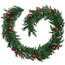 Weihnachtsgirlande Tannengirlande Girlande Dekoration Kugeln Innen Außen 2,7 m