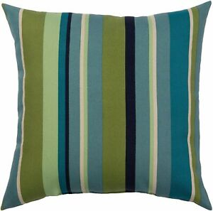 Brentwood Tropical Stripe Outdoor Pillow One Size Cream/green/blue