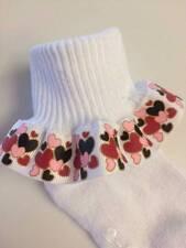 Hearts Ruffle Socks  Valentine Valentine's Day Holiday Infant Toddler Girls