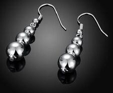 Caída de bola de plata esterlina 925 Pendientes Colgantes