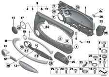 2012 MINI COOPER S / CLUBMAN RIGHT LOWER & UPPER DOOR PANEL TRIM PAIR BLACK
