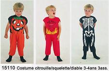 Costume carnevale bimbo 3-4 anni diavolo