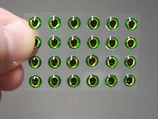 "24 GREEN GOLD   3D Soft Molded 3/16"" Eyes Fly Tying Lures"