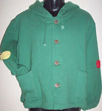 New 100% Cotton Boys Girls Hoodie Hooded Jumper Sweater Medium 6-8 Years Green