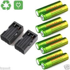 8PCS 5000mAh BRC 3.7V 18650 Rechargeable Li-ion Battery+2x Dual Smart Charger