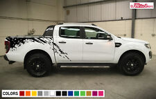 Decal Sticker Vinyl Side Bed Mud Splash Kit for Ford Ranger T6 2011-2015 Rear