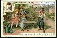 Children Physics Centrifugal Force  c1903 Trade Ad  Card