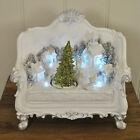 Kingfisher Xmas Scene Two Seat Sofa Christmas Tree Ornament Decoration LED Light