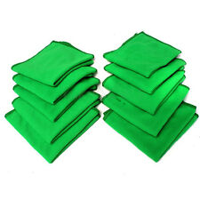 Hot ! 10pc Green Microfiber Cleaning Towel Home Auto Car Soft Cloths Wash