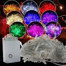 10M 100 Led Garland Christmas Light LED Curtain Fairy String 220V EU Plug 8 Mode