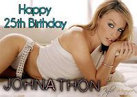 Personalised Kylie Minouge Birthday Greeting Card A5