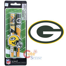NFL Green Bay Packers 2 Pack Ball Pont Pen NFL Team Logo Stationery