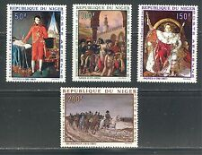 NIGER 1969, FAMOUS PAINTINGS, NAPOLEON BONAPARTE, Scott C100-C103, MNH