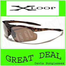 X Loop Sunglasses XL22701 UV400 Davis I9 brown lens tortoise zz