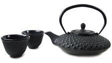 Japanese Cast Iron Tea Set Teapot Teacup Black #TS3-06 S-2097 AU