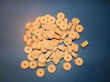 """100 AGGLOMERATED  CORK RINGS 11/4""""X1/2"""" FINE GRAIN  BORE 1/4"""""""