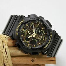 Casio Herrenuhr G-Shock Chrono Weltzeit analog/digital Resin GA-100CF-1A9ER