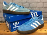 ADIDAS OG UK 5 EU 38 HANDBALL SPEZIAL BLUE SUEDE GUM SOLE TRAINERS CHILDRENS LG