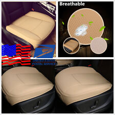 3D Comfortable Beige PU Leather Luxury Car Autos Seat Cover Cushion US Shipping