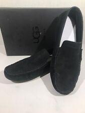 UGG Henrick Stripe Perf Men's Size 7.5 Black Nubuck Moc Loafer Shoes X21-352