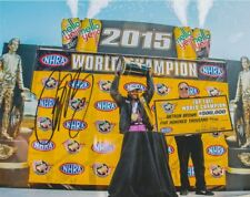 2015 Antron Brown signed NHRA Top Fuel World Champion 8x10 Photo