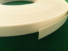 White Melamine Edge Tape 21mm x 10m Pre-Glued Iron On Veneer Edging Laminate