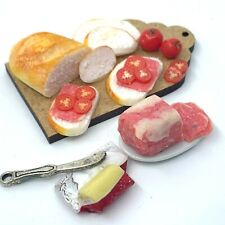 More details for 12th scale dolls house food making a corned beef sandwich 4 pieces vgc free p&p