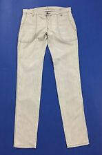 Jeans donna usati 46 48 w32 slim dritti stretta grigio chiaro pant working T1195