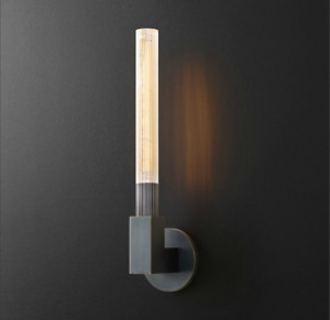 Cannele Single / Double Sconce Lighting Wall Lamp Brass / Chrome / Black Replica