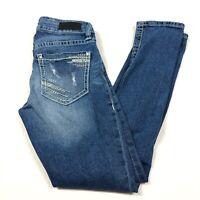 Daytrip Women's Distressed Lynx Ankle Skinny Jeans Size 24