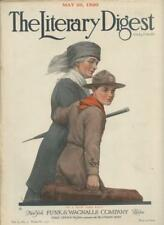 May 1920 Literary Digest Magazine Boy Scout BSA Cover In Uniform w/ Merit Badges