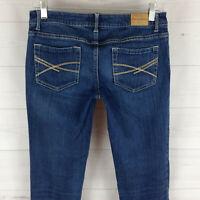 Aeropostale Bayla womens size 5/6 stretch blue med wash skinny denim jeans EUC