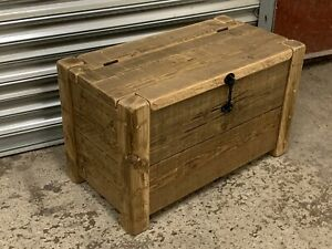 Rustic Reclaimed Solid Wood Blanket Box/ Ottoman/ Trunk/ Chest/ Coffee Table 3ft