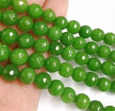"Faceted 8mm Green Peridot Round Beads Loose Beads Gemstone 15"" strand AA"