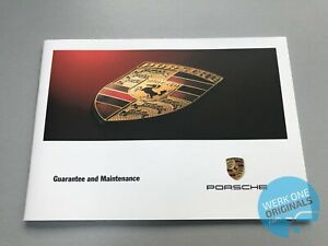 Porsche 911 996 Guarantee and Maintenance book service history in English