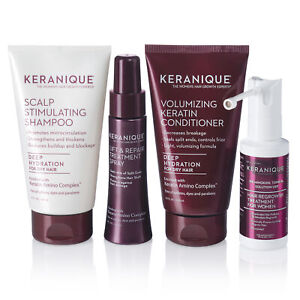 Keranique Deep Hydration Hair Regrowth Treatment System with Keratin, 30 Days