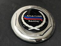 American Racing Custom Wheel Center Cap Chrome Finish FAUX WIRE 4512 RED BLUE