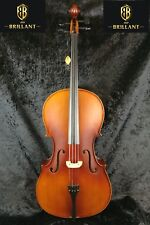 Brillant Student Cello Outfit 3/4 Size Satin Finish With Bag Bow and Rosin