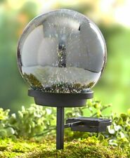3D Effect Solar Glass Gazing Ball with Stake - Outdoor Garden Accent Yard Decor