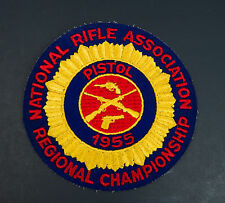 Vtg 1955 National Rifle Association Nra Regional Championship Pistol Patch 5""