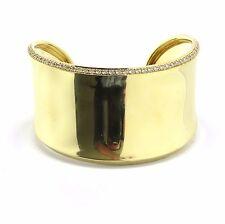 Robert Lee Morris 18k Gold Diamond Cuff Bracelet