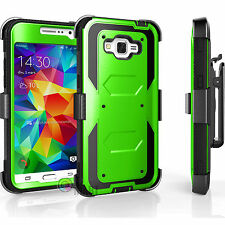 HYBRID REFINED ARMOR COVER PHONE CASE+BELT CLIP HOLSTER FOR SAMSUNG GALAXY