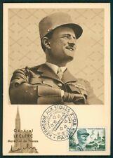 France Mk 1954 general Leclerc maximum tarjeta Carte maximum card mc cm ci92