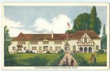Longview Washington Community House 1940s Antique Postcard 25140
