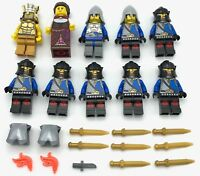 LEGO 10 NEW CASTLE KNIGHTS CROWN ARMOR KINGDOMS GOLD KING QUEEN WEAPONS MORE