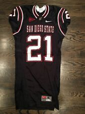 Game Worn Used San Diego State Aztecs Football Jersey #21 Nike SDSU Size M
