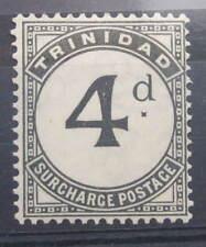 TRINIDAD 1929 FOUR PENCE 4d POSTAGE DUE SGD21    LIGHT MINT SEE PHOTOS