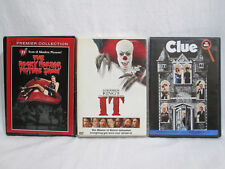 3 TIM CURRY DVD Movies- The Rocky Horror Picture Show, It, Clue