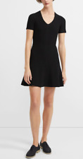 Theory - Knit Flare Dress In Ribbed Stretch Viscose - Black - Size Medium