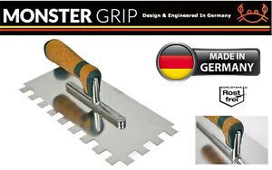MonsterGRIP Square Notch Trowel SSteel Blade Notched Tile Tiling Walling 4-20mm